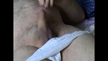 wanking in white panties