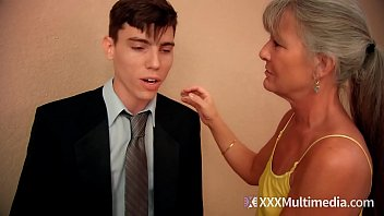 stepmom fucks young son on prom night and.