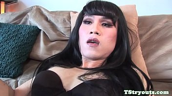 ladyboy beauty strips on casting couch