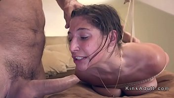 tied up petite cutie anal fucked