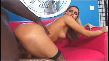 hot ass blonde taking a black doggy style fuck
