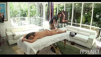 delighting sweetheart with oil massage