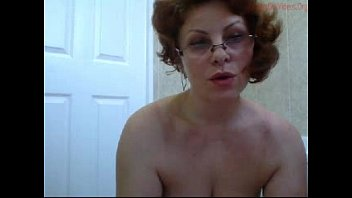 curvy milf showering herself