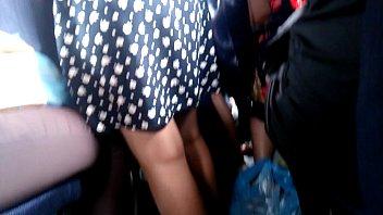 beauty feet at bus hidden