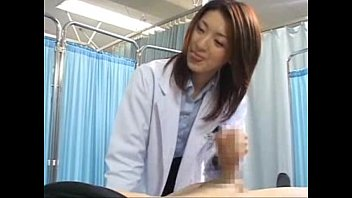 japanese female doctor makes her patient.