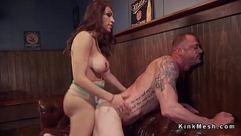 tranny anal fucks husband in bar