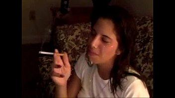 teen bitch smoking after facial cumshot