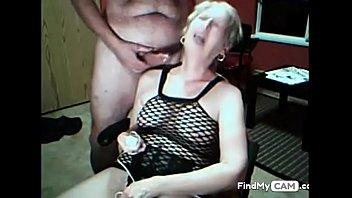 granny vibrates her cunt and gets cummed on webcam