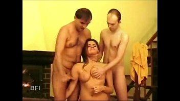 brunette gets her tits slapped -.