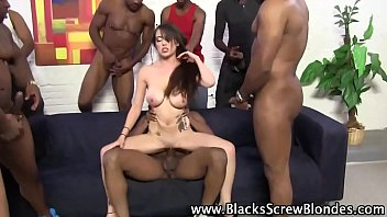 interracial gang bang for this slut