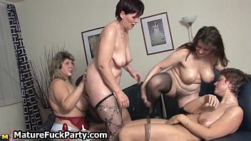 five sexy moms in horny lingerie.