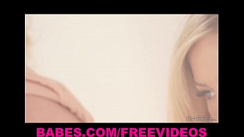 gorgeous blonde bombshell leony april shows off her body