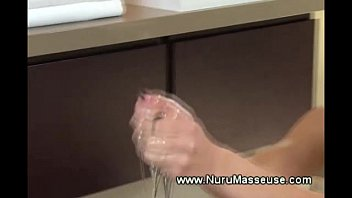 slutty masseuse loves her job rubbing and tugging.