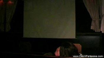 dutch redhead fucked in movie theatre