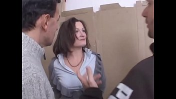 sexy milf tied up and violently banged by.