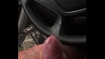 solo in car masturbating
