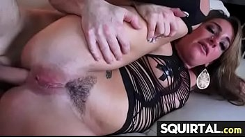 massive squirting and creampie female ejaculation.