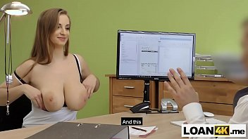 huge tits consumer needs a loan after chrashing.