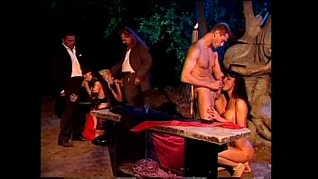 outdoor night orgy with the venere.