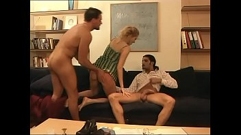 slutty girl screwed by two in a double penetration!
