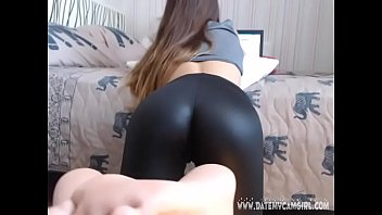leather girl belindatight3 showing shiny ass.