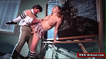 big tit schoolgirl and teacher banged hard in.