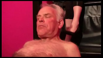 young blond haired german femdom goddess dominate old man