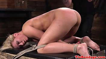 gagged milf spanked after flogging