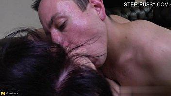 busty girlfriend cum in throat
