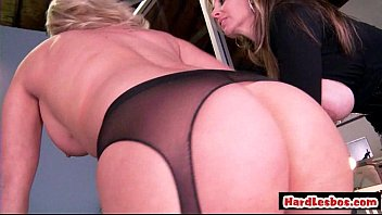 awesome big tit lesbians licking and toying each.