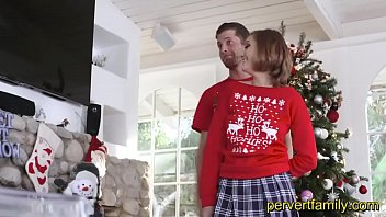 pervertfamily- christmas fotoshooting tuns into brother and sister fucking