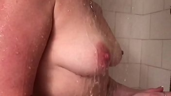 slow motion boobs wife tits in the shower sexy