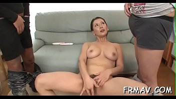 hot asian threesome with oral sex