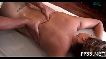 massaging a wild beauty with massage before oral stimulation