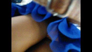 blue skirt girl upskirted