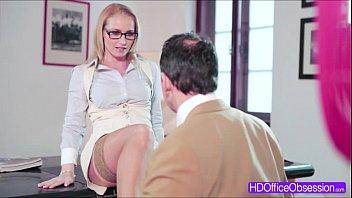 hot blonde boss kathia nobili rewarded her worker.