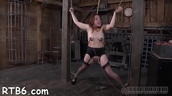 bound up chick is punished by master for.