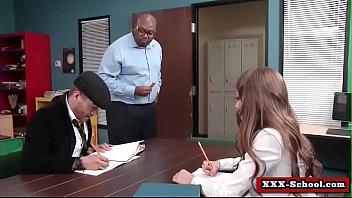 busty teacher and schoolgirl get fucked in classroom 15