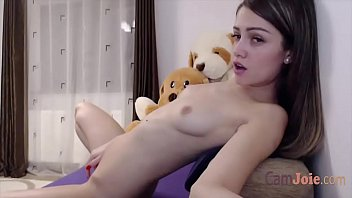 cute solo teen orgasm with lush toy