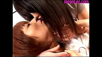 2 cute japanese girls kissing passionately