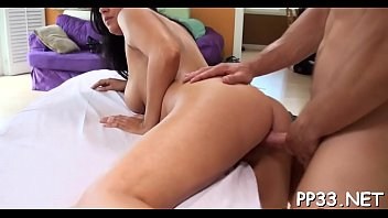 giving babe lusty massage makes stud&#039_s rod hard.