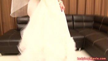 ladyboy jacky in wedding dress